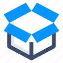 box, package, parcel, service icon