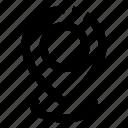 gps, location pin, location pointer icon