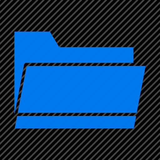 data, folder, open, storage icon