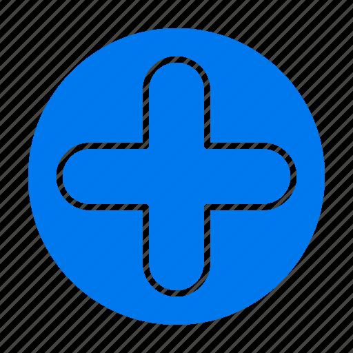 hospital, medical, plus, sign icon