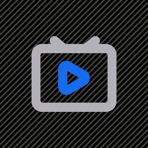 entertainment, media, online tv, television, tv, video camera icon