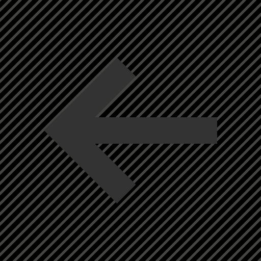 arrow, direction, left icon