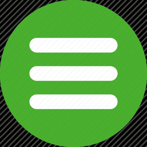 green, hamburger, list, menu, options, stack icon