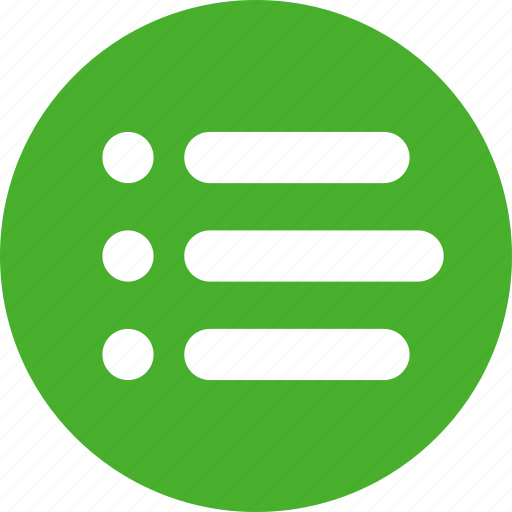 bullet, green, justified, list, menu, options icon