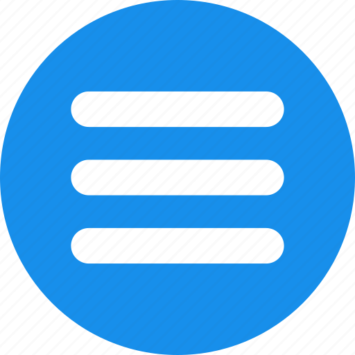 blue, hamburger, list, menu, options, stack icon