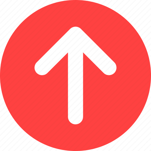 arrow, direction, red, up icon