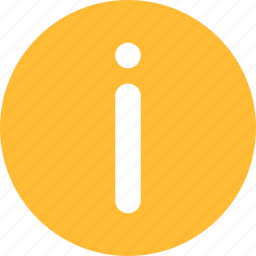 circle, help, info, information, learn more, yellow icon