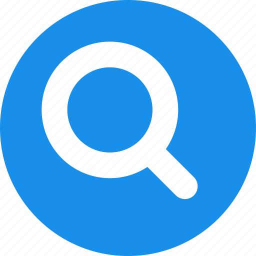 blue, find, glass, magnifier, magnifying, search icon