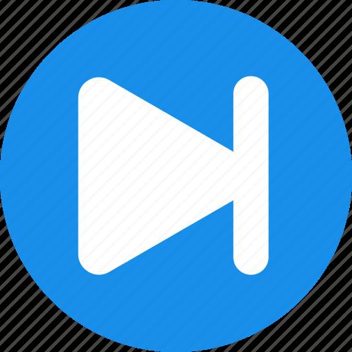 arrow, blue, circle, forward, next, right icon