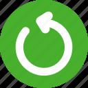 green, power, refresh, reload, restart