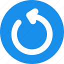 blue, power, refresh, reload, restart icon