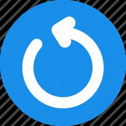 blue, power, refresh, reload, restart icon