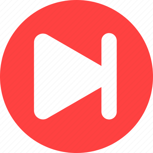 arrow, circle, forward, next, red, right icon