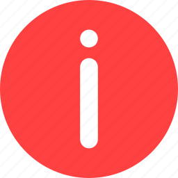 circle, help, info, information, learn more, red icon