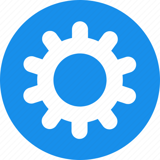 blue, gear, options, preferences, setting, settings icon