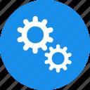 blue, gear, options, preferences, set, setting