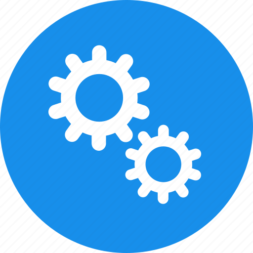 blue, gear, options, preferences, set, setting icon