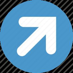 arrow, arrows, right, top, up icon