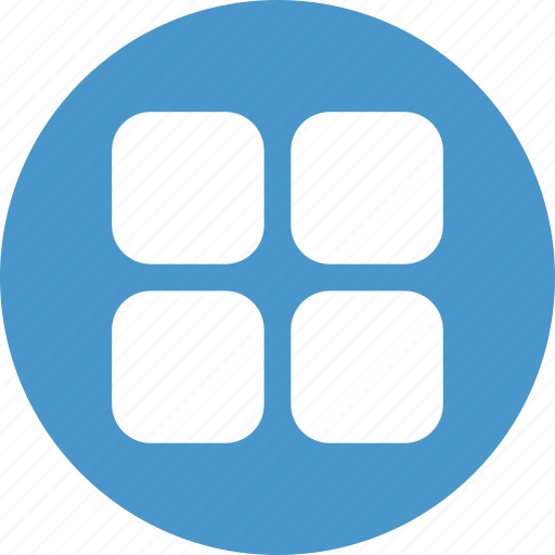 applications, apps, grid, list, menu icon