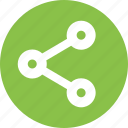 network, share, social icon