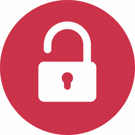 lock, protection, public, secure, security, unlocked icon