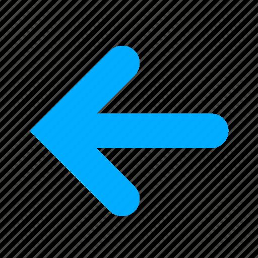arrow, arrows, back, blue, direction, left icon