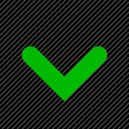 arrow, down, green icon