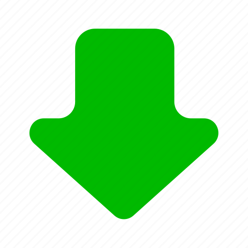 arrow, arrows, down, download, downloads, green icon