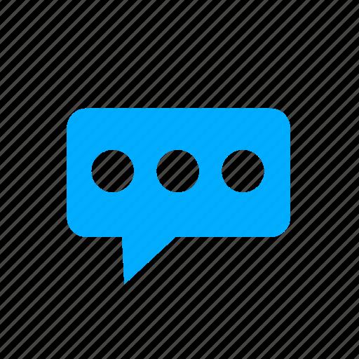 blue, bubble, chat, comment, comments, message icon