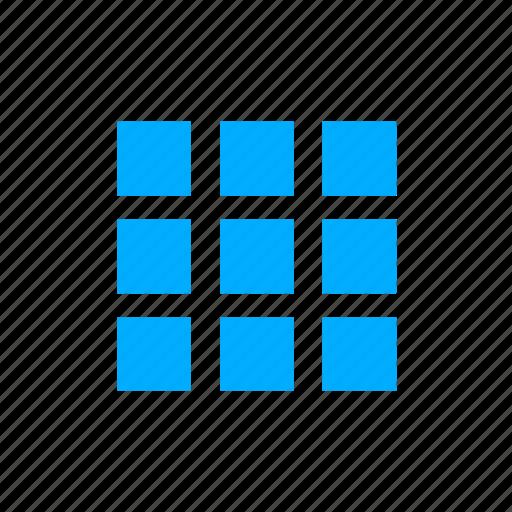 Apps Blue Grid Menu Icon Download On Iconfinder