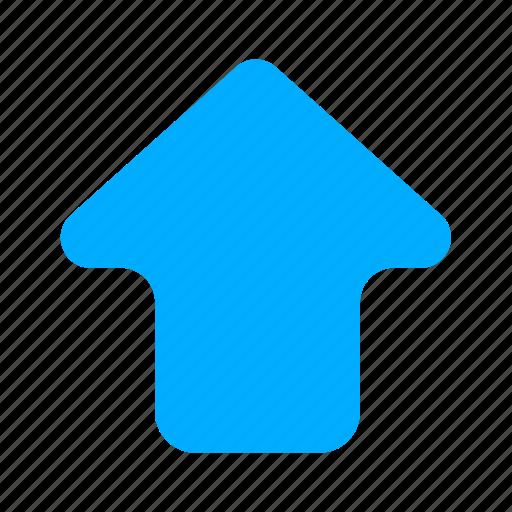 arrow, blue, cloud, up, upload icon