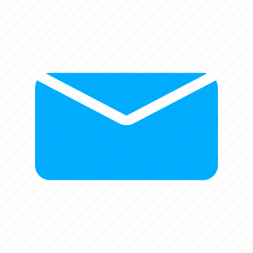 blue, communication, email, envelope, letter, mail icon