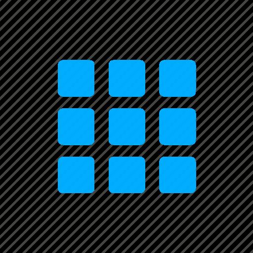 apps, blue, grid, menu icon
