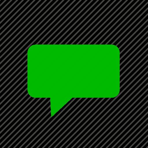 bubble, chat, comment, comments, green, message icon