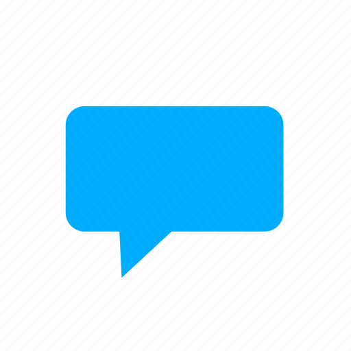 blue, bubble, chat, comment, comments, message icon