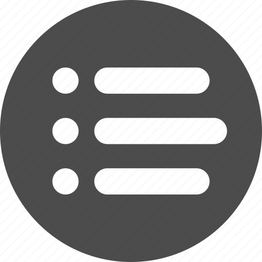 bullet, justified, list, menu, options icon