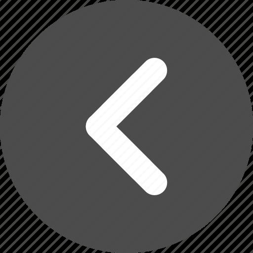 arrow, circle, direction, left, previous icon