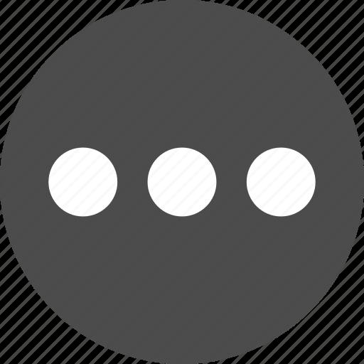 circle, control, menu, options icon