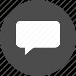 bubble, chat, comment, message, speech, talk icon