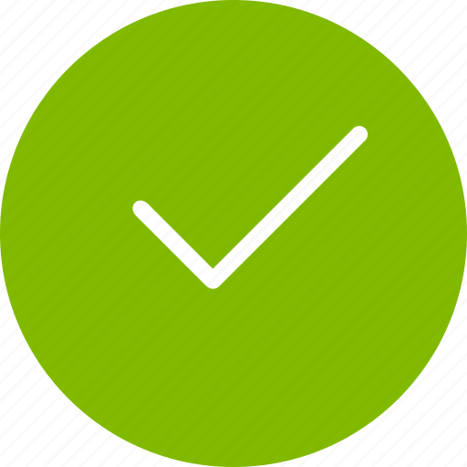 accept, approve, checkmark, ok, tick, yes icon