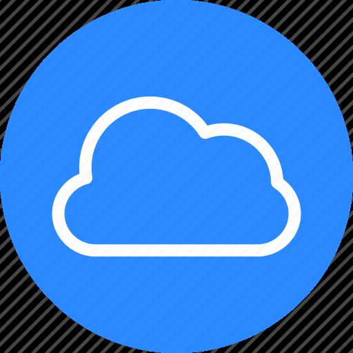 blue, circle, cloud, data, data base, database, forecast icon