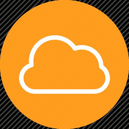 circle, cloud, data, data base, database, forecast icon