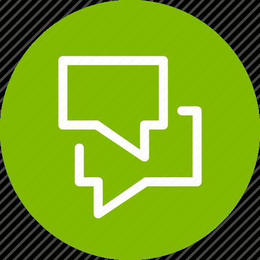 bubbles, chat, comments, communication icon