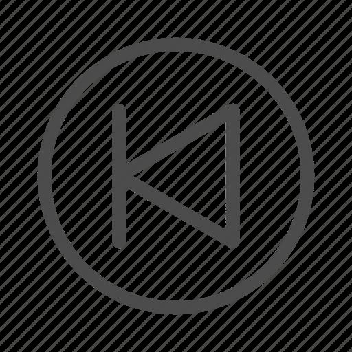 arrow, back, left, previous icon