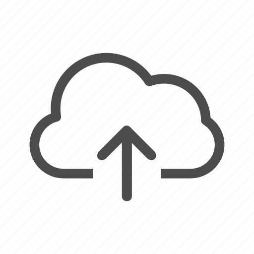 arrow, cloud, data, info, information, up, upload icon