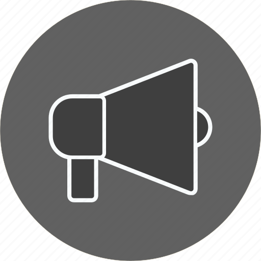 advertising, announcement, loud speaker icon