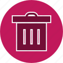 basket, delete, remove, trash icon