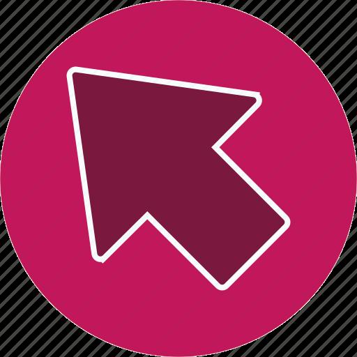 arrow, cursor, direction, navigation icon