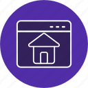 graphic, home, house, page, web icon