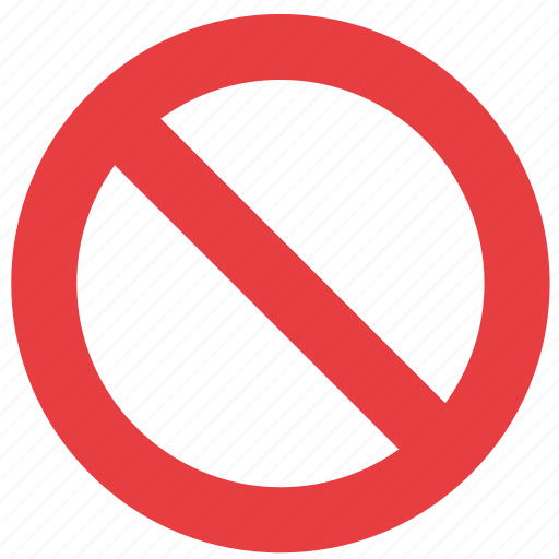 Cancel, cross, exit, no, not allowed, stop, wrong icon icon